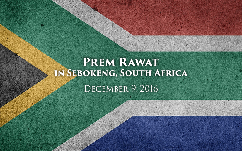 Prem Rawat in Sebokeng, South Africa