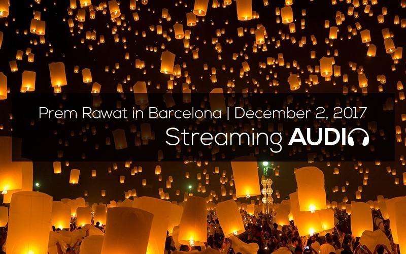 Picture of Prem Rawat en Barcelona, diciembre 2017 (Español) Audio