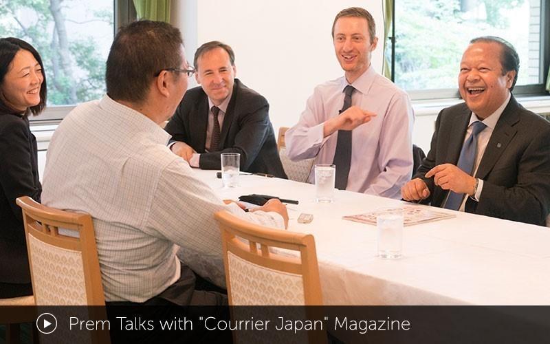 Prem Talks with Courrier Japan Magazine
