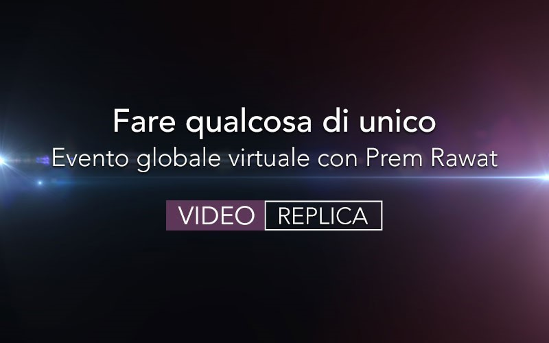 Fare qualcosa di unico - replica (Video)